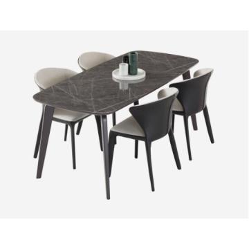Lujosa mesa de comedor rectangular