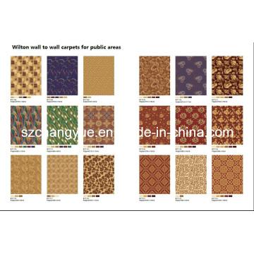 Machine Woven Broadloom Wilton Hotel Wool Carpets