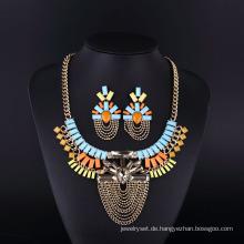 2016 bunte Böhmen Stil Crystal Acryl Halskette Set