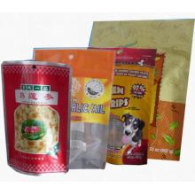 Bolsa de alimentos de plástico / envasado de alimentos para mascotas / bolsita de alimentos de escudete inferior