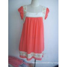Red Womens Casual Summer Short Sleeve Dress