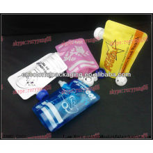 Food reusable pouched with ziplock plastic matrial/china manufacturer of plastic packaging bag