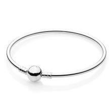 Pulseira em prata esterlina pulseira jóias de prata para mulheres