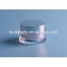 Light Glass cosmetic cream bottle