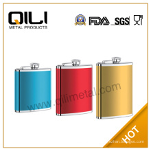Painting stainless steel hip flask