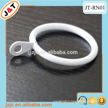 white/gold metal fashion curtain rod rings with cheap price