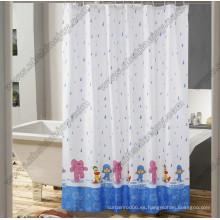 Cortina de ducha de lluvia feliz PEVA \ PVC \ EVA \ 100% poliéster
