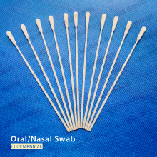 Disposable Virus Sampling Swab Oral Nasal Flocked Rayon