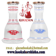 Best Selling White Glass General Hookah Bottle