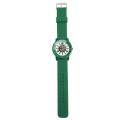 Colorful Alloy Case Wrist Watch,Geneva Silicone Strap Watch