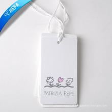Impressão de etiqueta de papel pendurada com preço barato para etiquetas penduradas em roupas