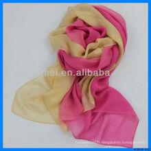 Echarpe de soie chinoise colorée et gracieuse