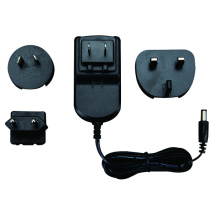 12W AC/DC US/UK/EU/AU Plug Interchangeable Power Adapter