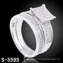 Mode Hochzeit Schmuck Silber CZ rhodiniert Ring (S-5595. JPG)