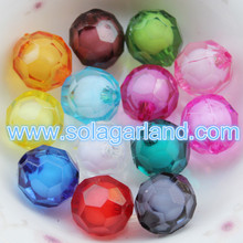 8-20MM Acrylic Round Faceted Bead In Bead Style Jewelry Making Chunky Beads