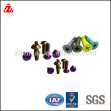 different type anodized color bolt