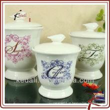 Vasilha cerâmica para café, chá, açúcar