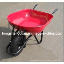 La brouette de roue de maison et de jardin de Qingdao ont le plateau en acier