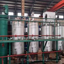 Máquina de refinación de aceite de palma cruda de acero inoxidable 2t