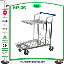 200kg Warehouse Foldable Storage Hand Shopping Trolley