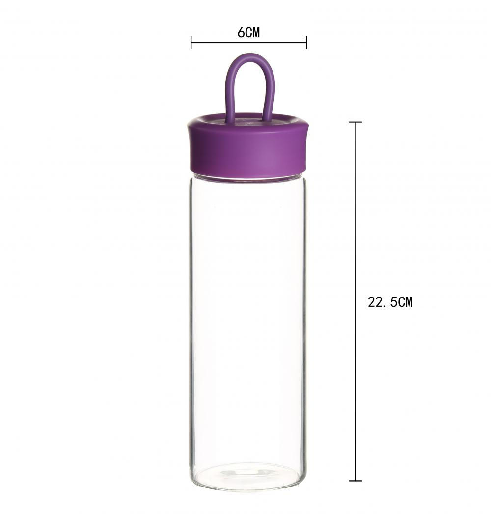 Sport Glass Water Bottle With Bamboo Lid