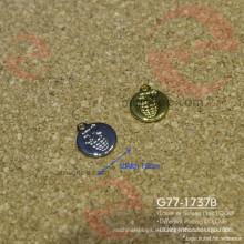 Metal latón o hierro que cuelga grabado placa redonda círculo etiqueta