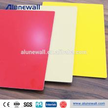 Chine fournisseur couleur enduit en aluminium haute brillance panneau composite pour la décoration de toiture