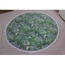 Круглое пляжное полотенце с принтом мандалы в натуральную величину из полиэстера из микрофибры на заказ