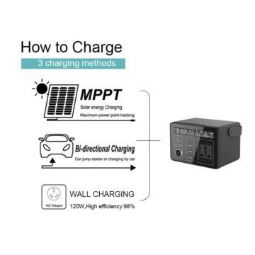 Portable Solar Generator 300Wh