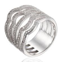 Anel de prata de moda CZ Stone