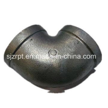 Raccords de tuyaux en fer malléable à coude galvanisé à bandes