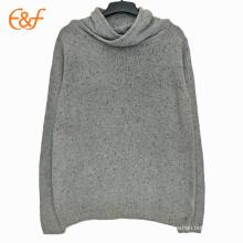 Custom Mens Cowl Neck Plain Sweaters Streetwear