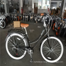 "7 Speed Adult Women Vintage Lady Classic City Cruiser Bikes 28"""