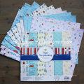"""Paquet de papier à motif Paperbook broché de 6X6 """"Papier découpé à la main"""" Scrapbooking """""""