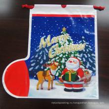 Печатание полиэтиленового пакета PE подарка с веревочкой