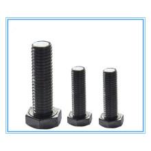 Boulons à tête hexagonale noire avec acier au carbone