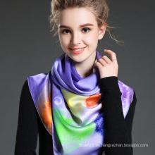 La Nueva Señora Dyeing Bufanda Larga Púrpura