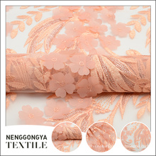 Высокое качество высокое качество модный полиэстер лазерной цветочной вышивкой дизайн