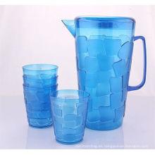 Caldera de agua de plástico de alta calidad con 4 tazas