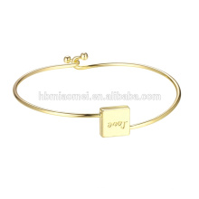 2017 Nouveau Luxe Personnalisé Dire Textes Bracelets & Bangles pulsera DW Hommes Femmes Amour Bracelets Cadeau cuivre bijoux