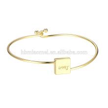 2017 New Luxury Custom Saying Texts Bracelets & Bangles pulsera DW Men Women Love Bracelets Gift copper jewelry