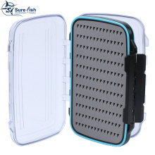 Wholesale Slim Foam Waterproof Plastic Fly Fishing Tackle Box