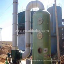 Depurador de cloro de la torre de absorción de gas de fibra de vidrio