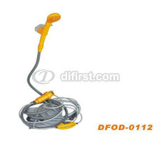 Battery Powered Portable Shower for Outdoor Using