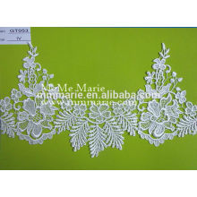 Factory fashion polyester water soluble lace fabric with many colors GT053