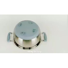 wholesale kitchen cookware silicone bottom stainless steel cooking pot set