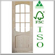 Porte en bois de placage de chêne de design d'intérieur de nature