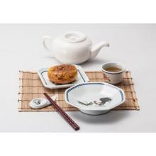 100% de utensílios de mesa de melamina-sobremesa / placa quadrada (4105)