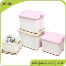 Fabriquer le récipient en plastique de boîte de stockage de pp 96L avec la vague