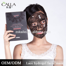 2016 new face mask bamboo lace collagen facial mask